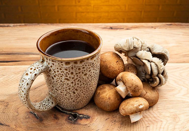 cafea cu ciuperci